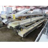 """Lot 57 - Stainless Steel Pack-Off Conveyor, double belt, 24"""" W X 17' L neoprene top belt, 24"""" W X 18' L"""