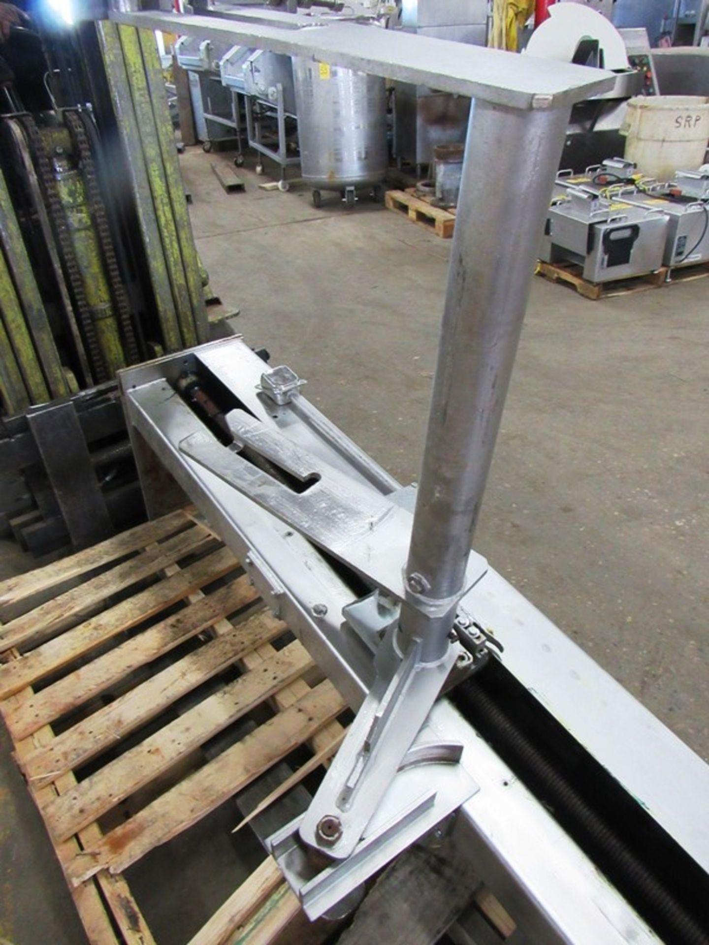 "Lot 58 - Formax Stainless Steel Column Dumper, Ser. #FBL662, adjustable height, set at 55"", 9' Tall overall"