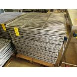 "Lot 34 - Stainless Steel Smoke Screens, 41 1/2"" W X 41 1/2"" L"