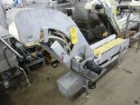 "Lot 44 - Stainless Steel Incline Conveyor, 12"" W X 89"" L flighted belt, 2"" high flights, spaced 8"" apart"