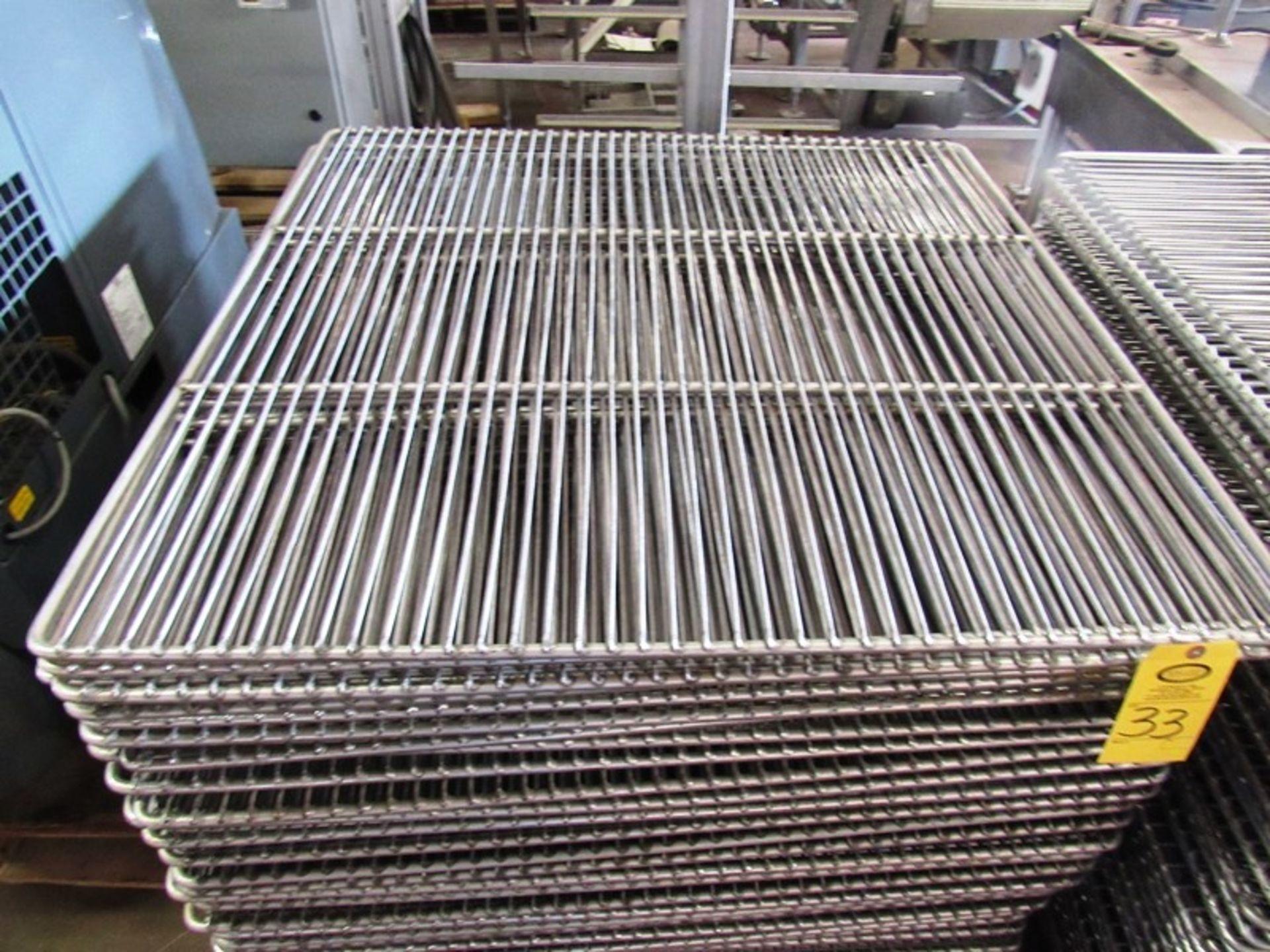 "Lot 33 - Stainless Steel Smoke Screens, 41 1/2"" W X 41 1/2"" L"