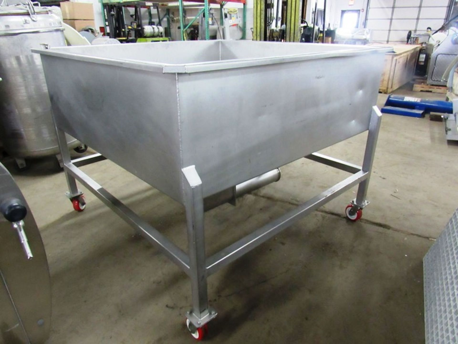 "Lot 52 - FPEC Mdl. VFH86 Stainless Steel Vacuum Load Hopper, 5' W X 5' L X 36"" D tapered bottom, 6"" bottom"