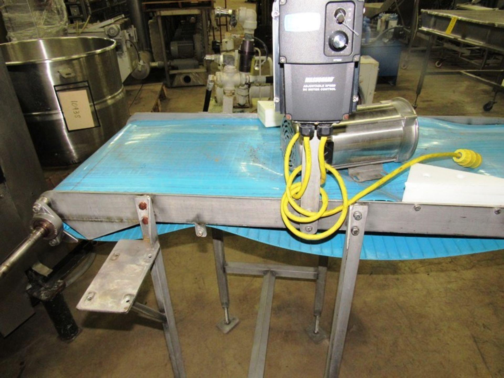 "Lot 19 - Stainless Steel Conveyor, 20"" W X 54"" L neoprene belt, 1/2 h.p., stainless steel motor, 208/230/"