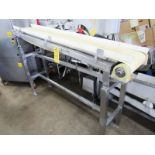 "Lot 42 - Stainless Steel Conveyor, 12"" W X 6' L neoprene belt, adjustable incline to flat, 230/460 volt"