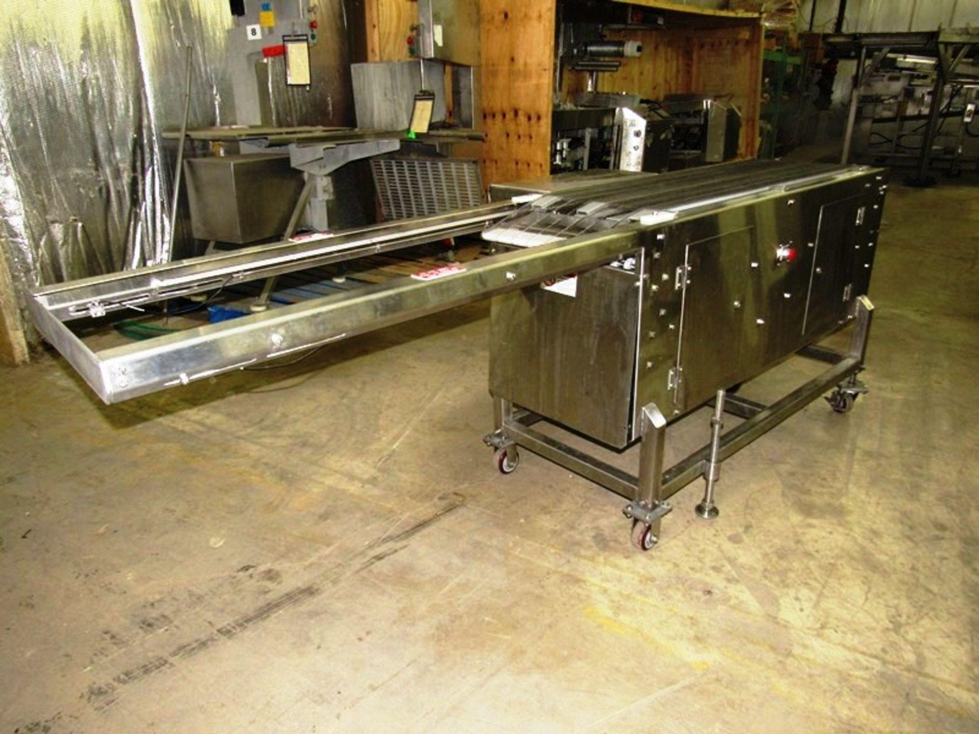 """Lot 1 - Bridge Machine Co. Mdl. SCA18/42 Stainless Steel Shuttle Conveyor, 18"""" W X 68"""" L belt, 114"""" L"""