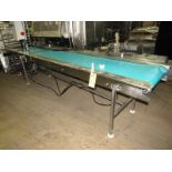 "Lot 28 - Stainless Steel Conveyor, 24"" W X 12' L neoprene belt, hydraulic drive, controls"