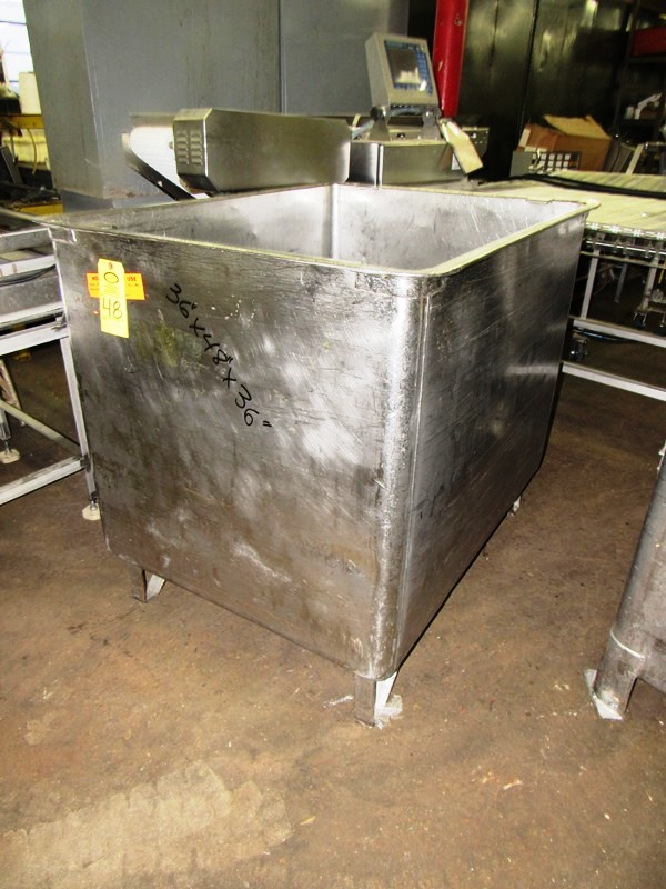 "Lot 48 - Stainless Steel Vat, 36"" W X 48"" L X 36"" D"