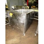 "Lot 48 - Stainless Steel Vat, 36"" W X 48"" L X 36"" D"