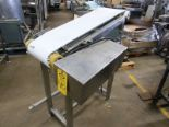 "Lot 40 - Stainless Steel Conveyor, 12"" W X 40"" L, adjustable incline to flat, 230/460 volt motor"