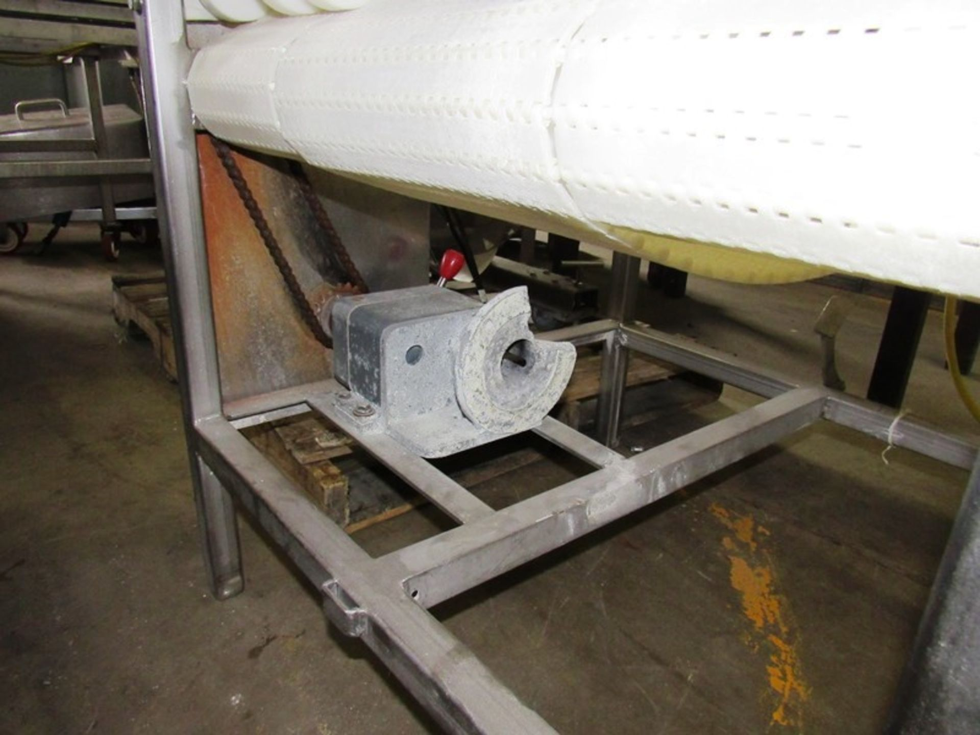 """Lot 39 - Stainless Steel Conveyor, 28"""" W X 48"""" L, no motor, gearbox"""