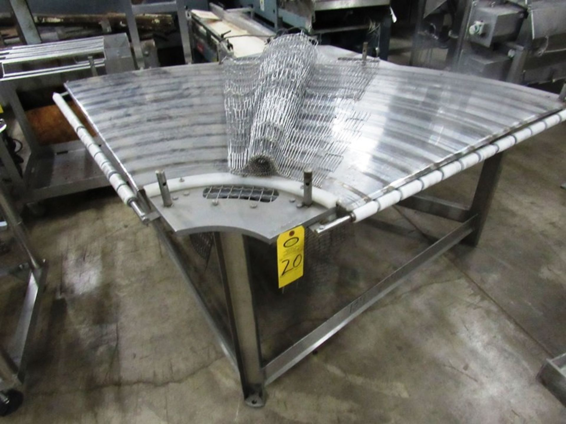 """Lot 20 - Stainless Steel Conveyor, 43"""" W X 7' L stainless steel ladder chain belt, .75 h.p., 230/460 volt"""