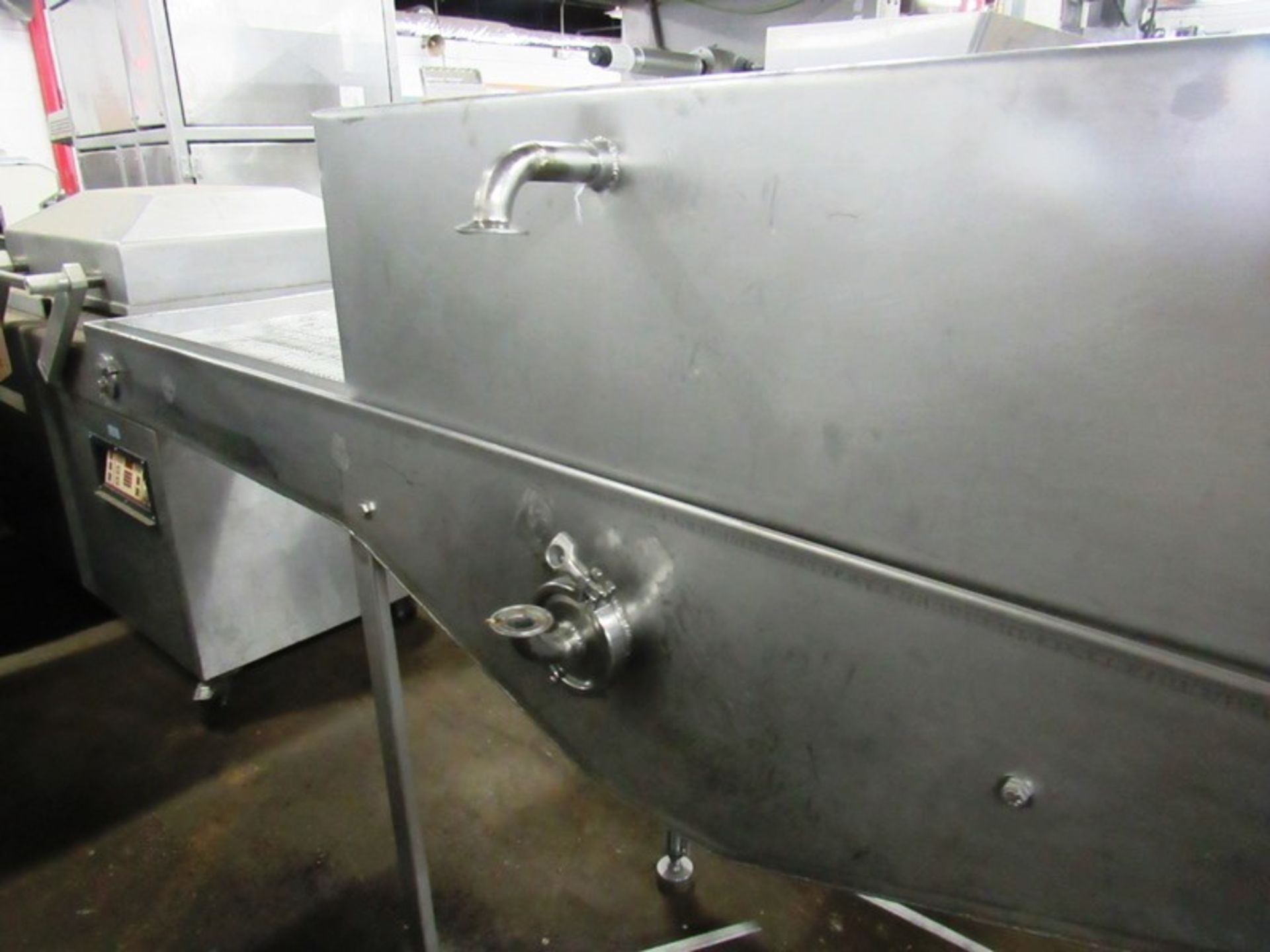 """Lot 54 - Stainless Steel Intervention Cabinet, 24"""" W X 6' L stainless steel belt, single spray bar with (4)"""