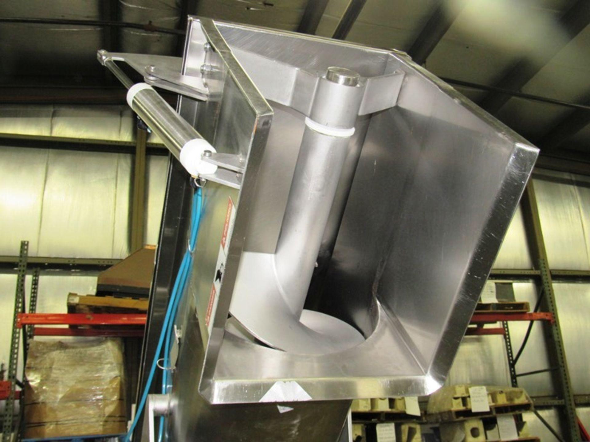 "Lot 13 - Equip Mdl. 249 Stainless Steel Screw Conveyor, Ser. #11871, 16"" Dia. X 9' L screw, 80"" discharge,"