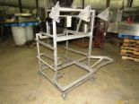 "Lot 10 - Stainless Steel Portable Parts Cart, 54"" X 48"" L X 60"" T"