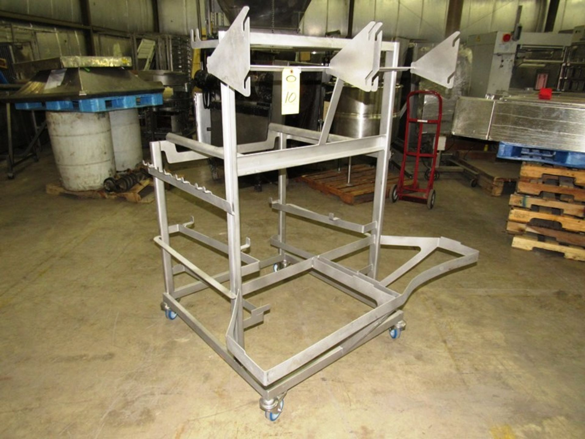 """Lot 10 - Stainless Steel Portable Parts Cart, 54"""" X 48"""" L X 60"""" T"""