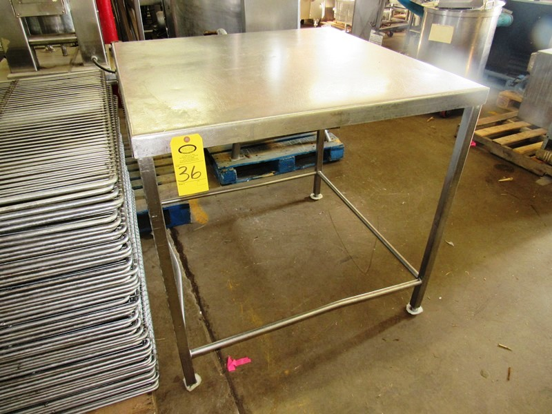 "Lot 36 - Stainless Steel Table, 44"" W X 44"" L X 42"" T"