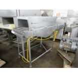 "Lot 54 - Stainless Steel Intervention Cabinet, 24"" W X 6' L stainless steel belt, single spray bar with (4)"