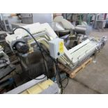 """Lot 43 - Stainless Steel Incline Conveyor, 10"""" W X 102"""" L flighted belt, 2"""" high flights spaced 12"""" apart,"""