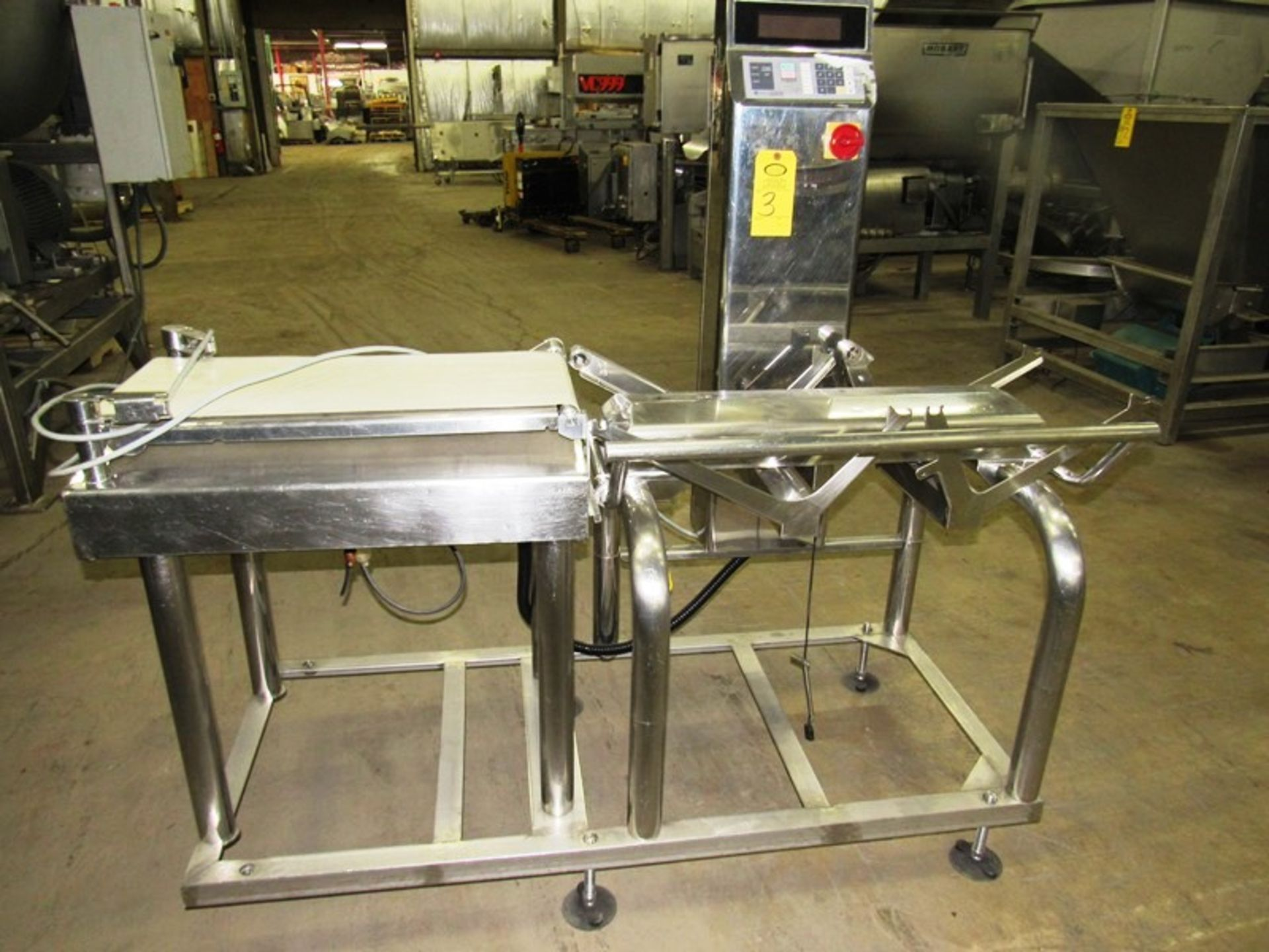 "Lot 3 - Ishida Mdl. DACS Digital Automatic Checking System, 12"" W X 29"" L infeed section, 14"" W X 36"""