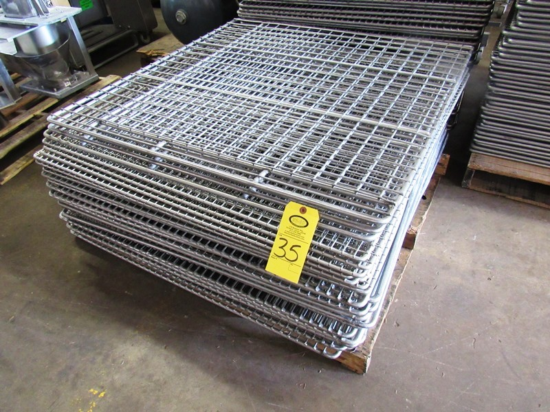 "Lot 35 - Stainless Steel Smoke Screens (1) 41 1/2"" W X 44"" L, (9) 41 1/2"" W X 42 1/2"" L, (3) 41 1/2"" W X"