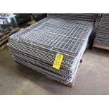 """Lot 35 - Stainless Steel Smoke Screens (1) 41 1/2"""" W X 44"""" L, (9) 41 1/2"""" W X 42 1/2"""" L, (3) 41 1/2"""" W X"""