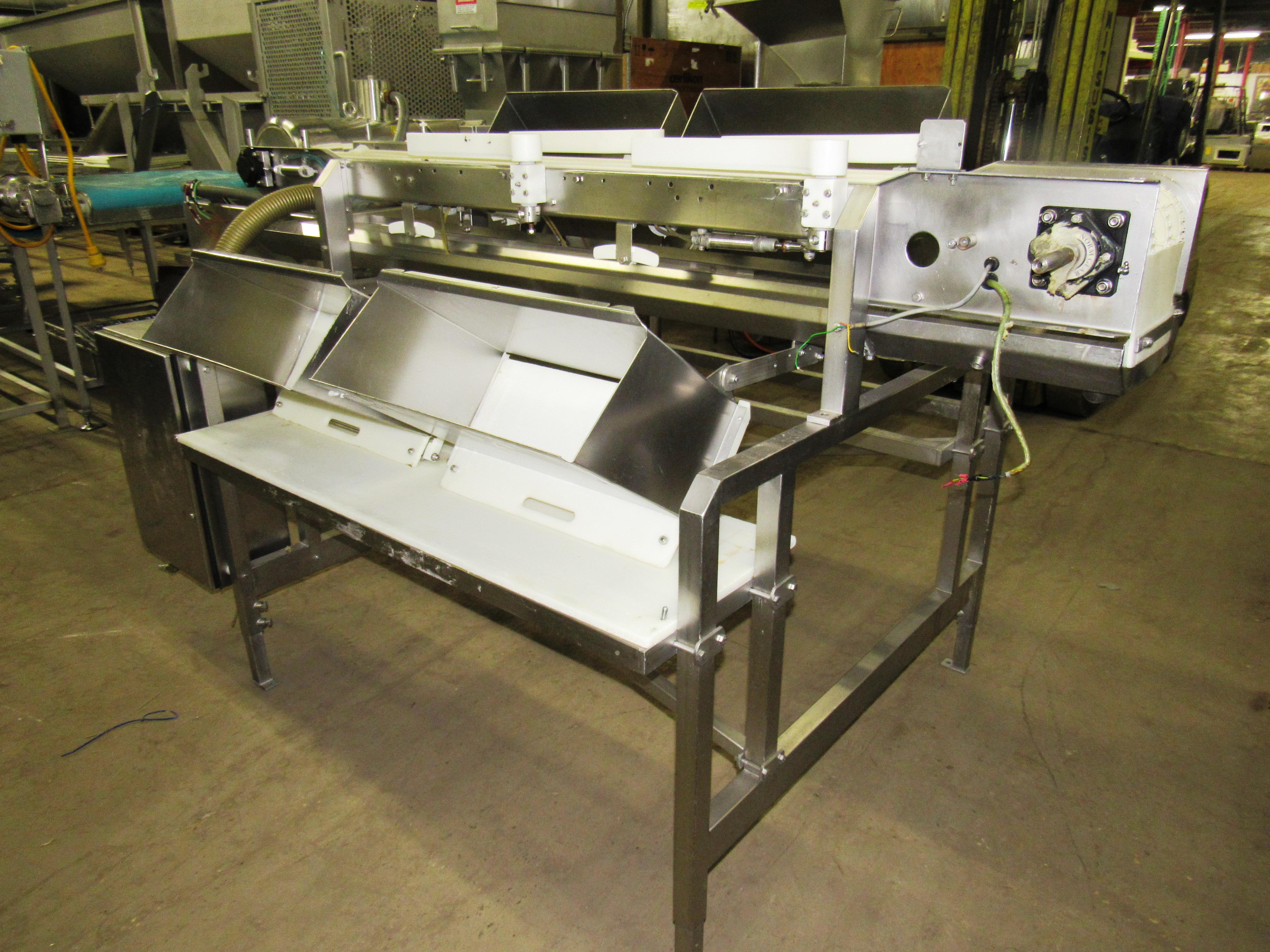 "Lot 31 - Stainless Steel Grading Conveyor (no belt), 12"" W X 88"" L, (2) stations each side"