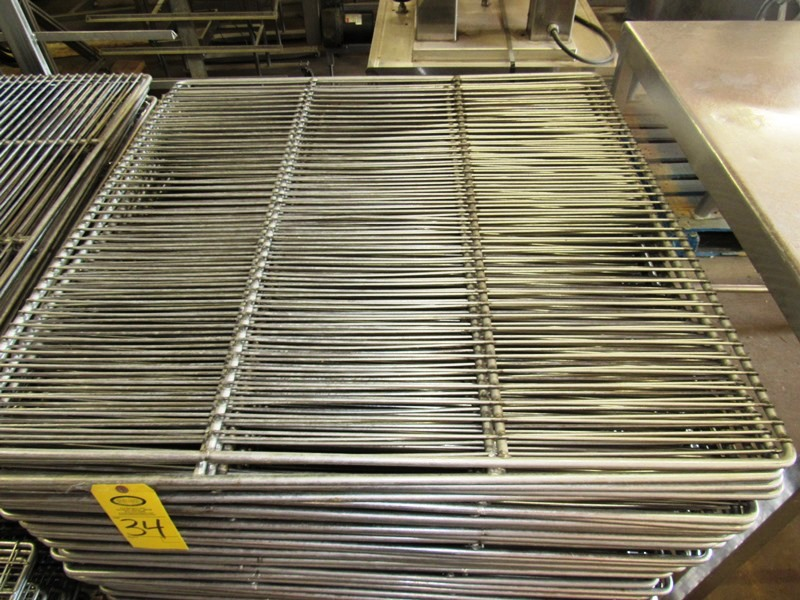 "Lot 34 - Stainless Steel Smoke Screens, 41 1/2"" W X 41 1/2"" L"