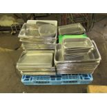 Lot 72 - Lot of Stainless Steel Perforated Pans, Cutting Boards, etc. Everything Must Be Paid For By 6/7/19.