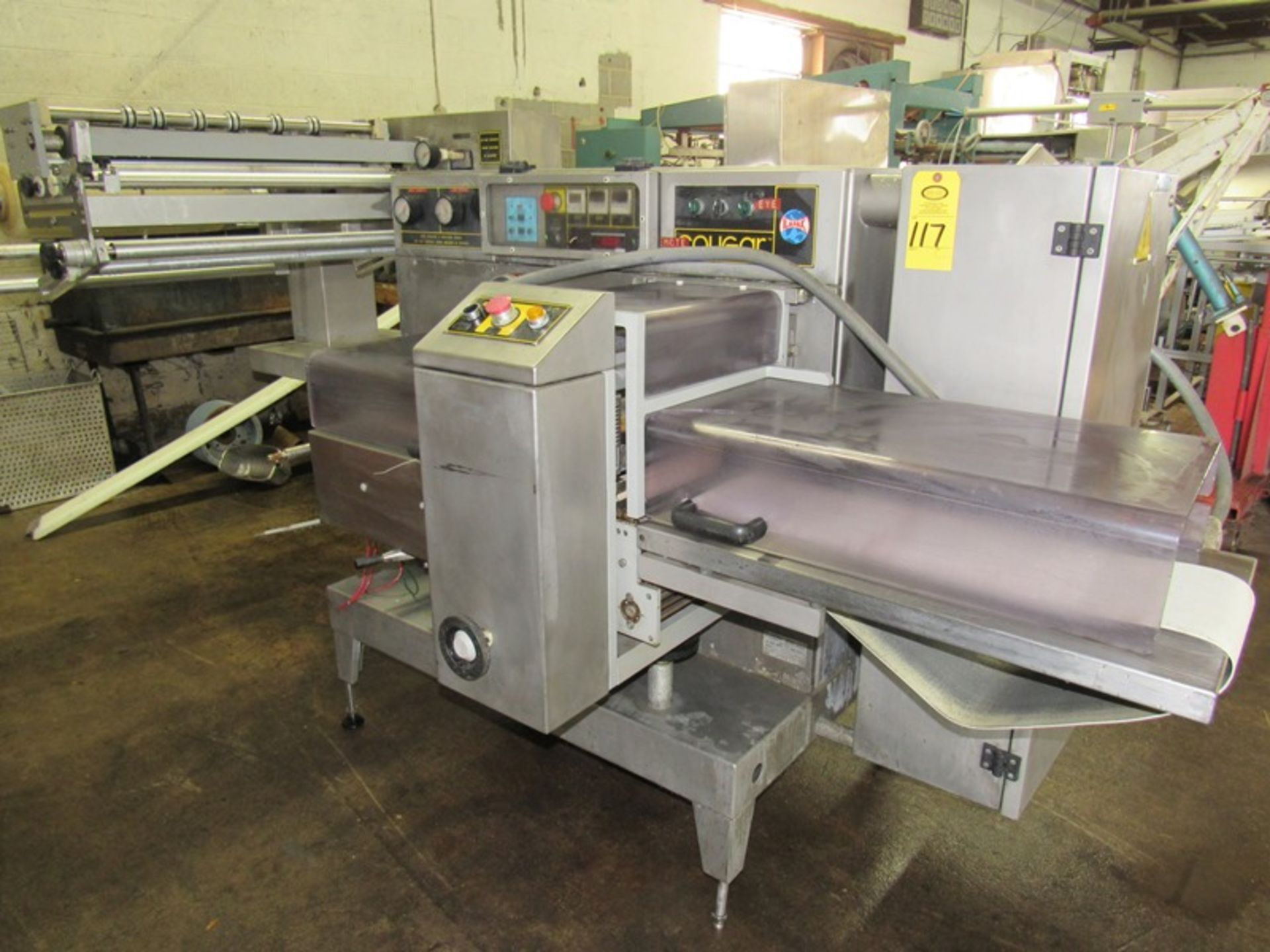 Lot 117 - Ilapak Cougar Model Uno Flow Wrapper Ser. #105, 230 Volts, 3 phase. Everything Must Be Paid by 6/7