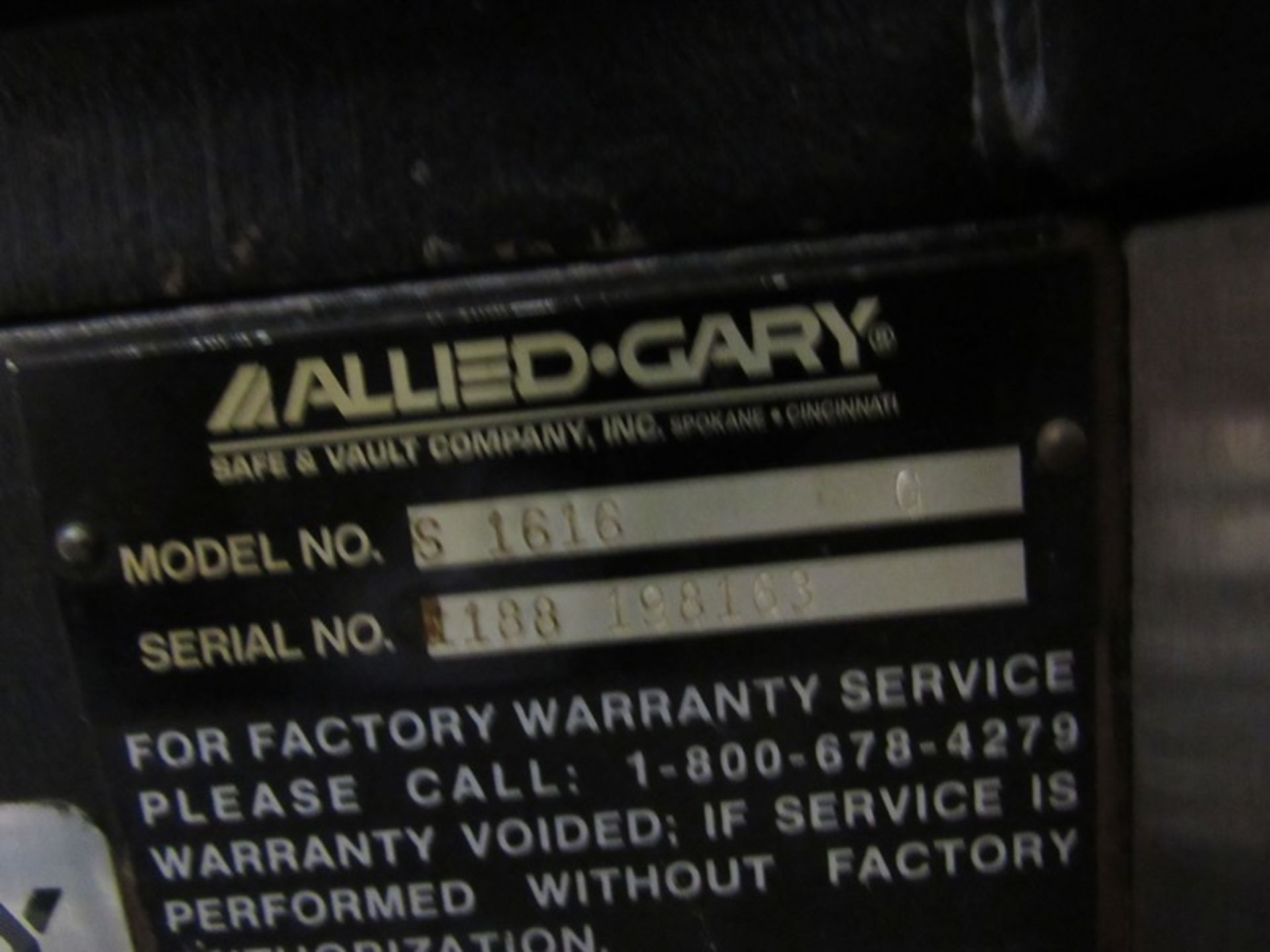 "Lot 216 - Allied-Gary Mdl. S1616 Combination Safe, 22"" W X 24"" D X 28"" T, Ser. #1188-198163, with combination"