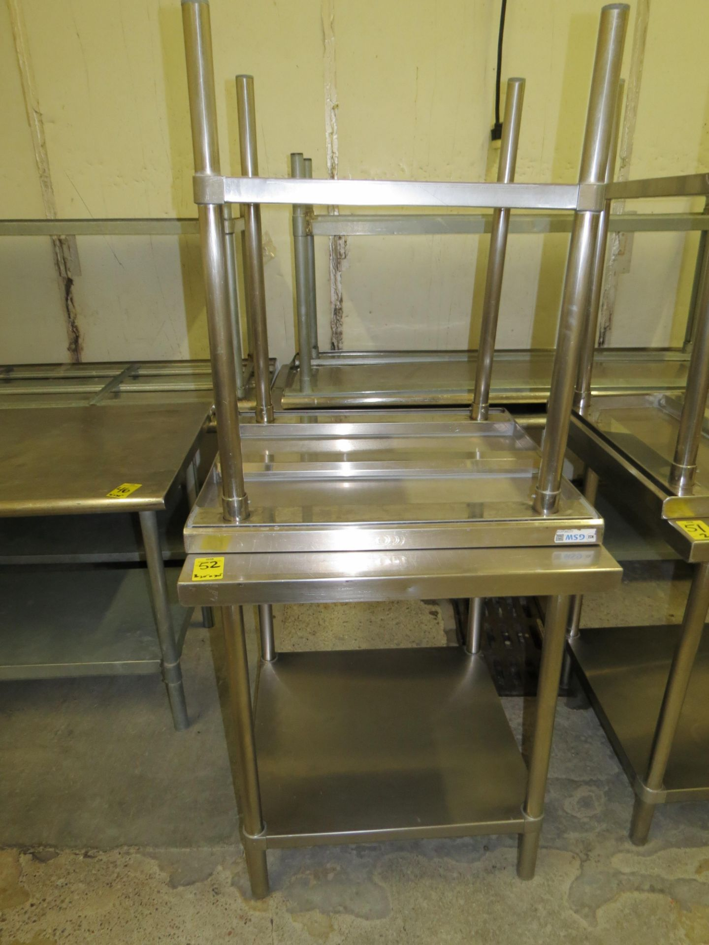 "Lot 52 - STAINLESS STEEL TABLE 30 "" X 30"""