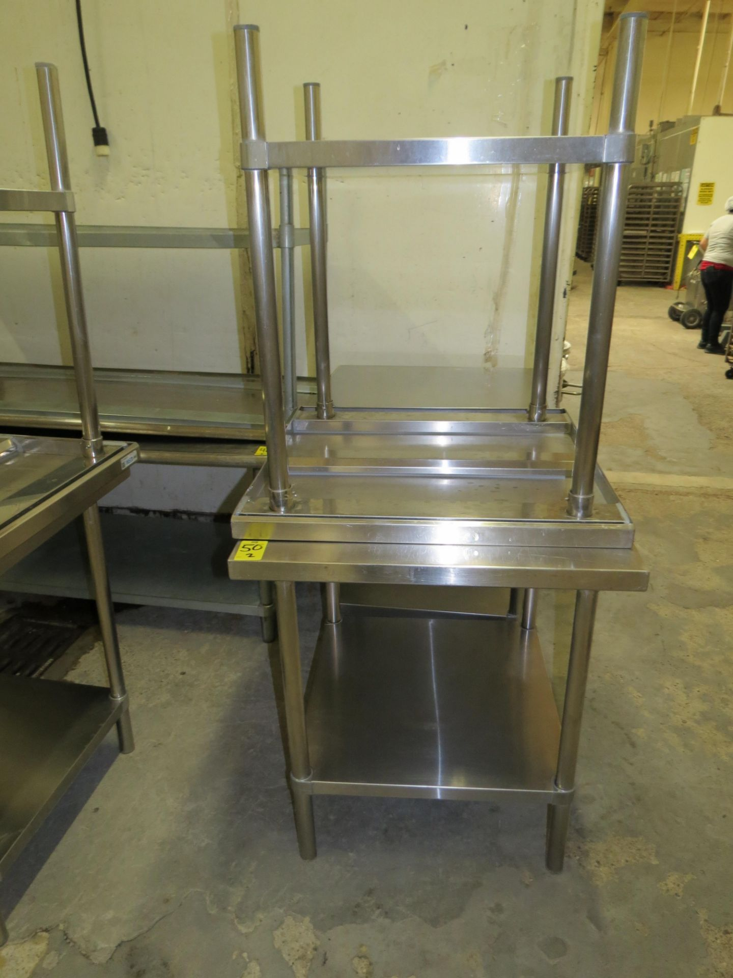 "Lot 50 - STAINLESS STEEL TABLE 30 "" X 30"""