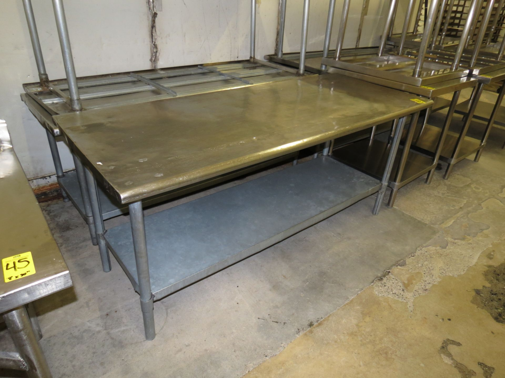 """Lot 46 - STAINLESS STEEL TABLE 6 ' X 30"""""""