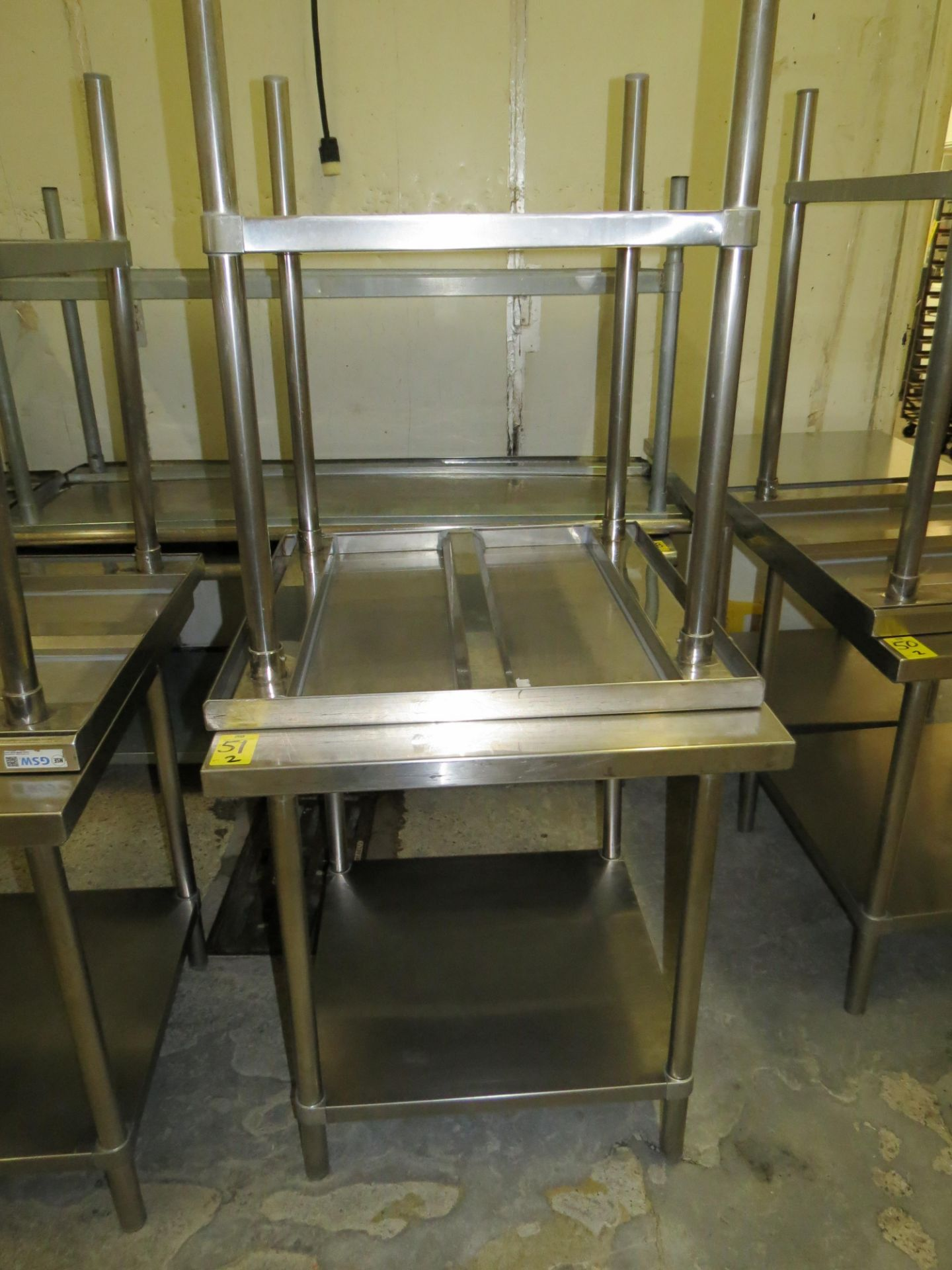 """Lot 51 - STAINLESS STEEL TABLE 30 """" X 30"""""""
