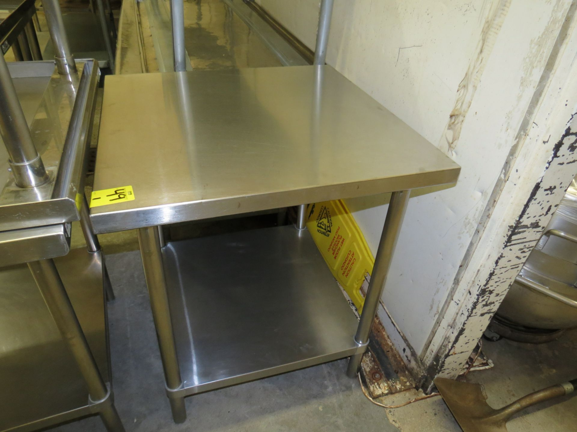 "Lot 49 - STAINLESS STEEL TABLE 30 "" X 30"""