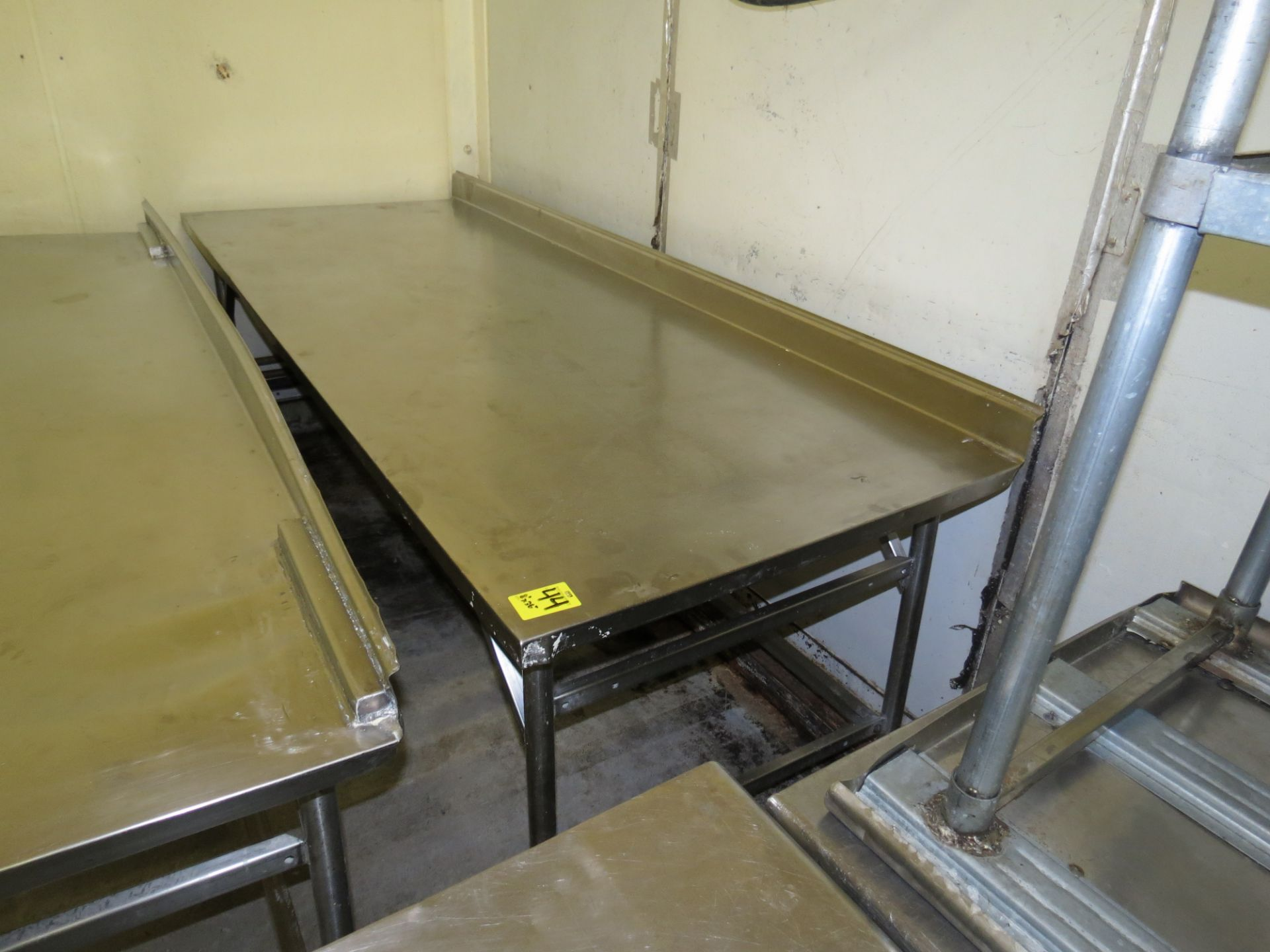 """Lot 44 - STAINLESS STEEL TABLE 8 ' X 36"""""""