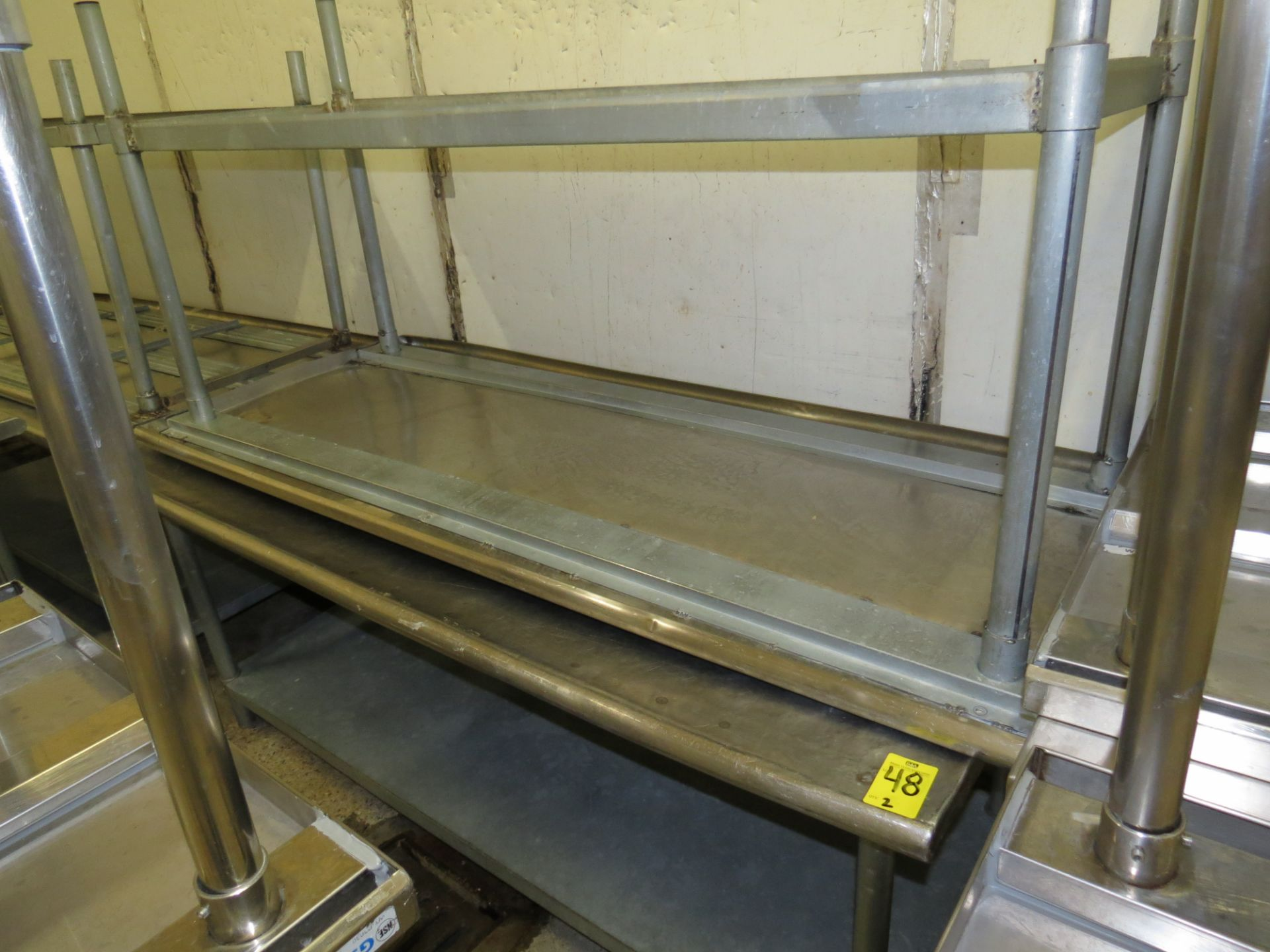 Lot 48 - STAINLESS STEEL TABLE 6' X 30""