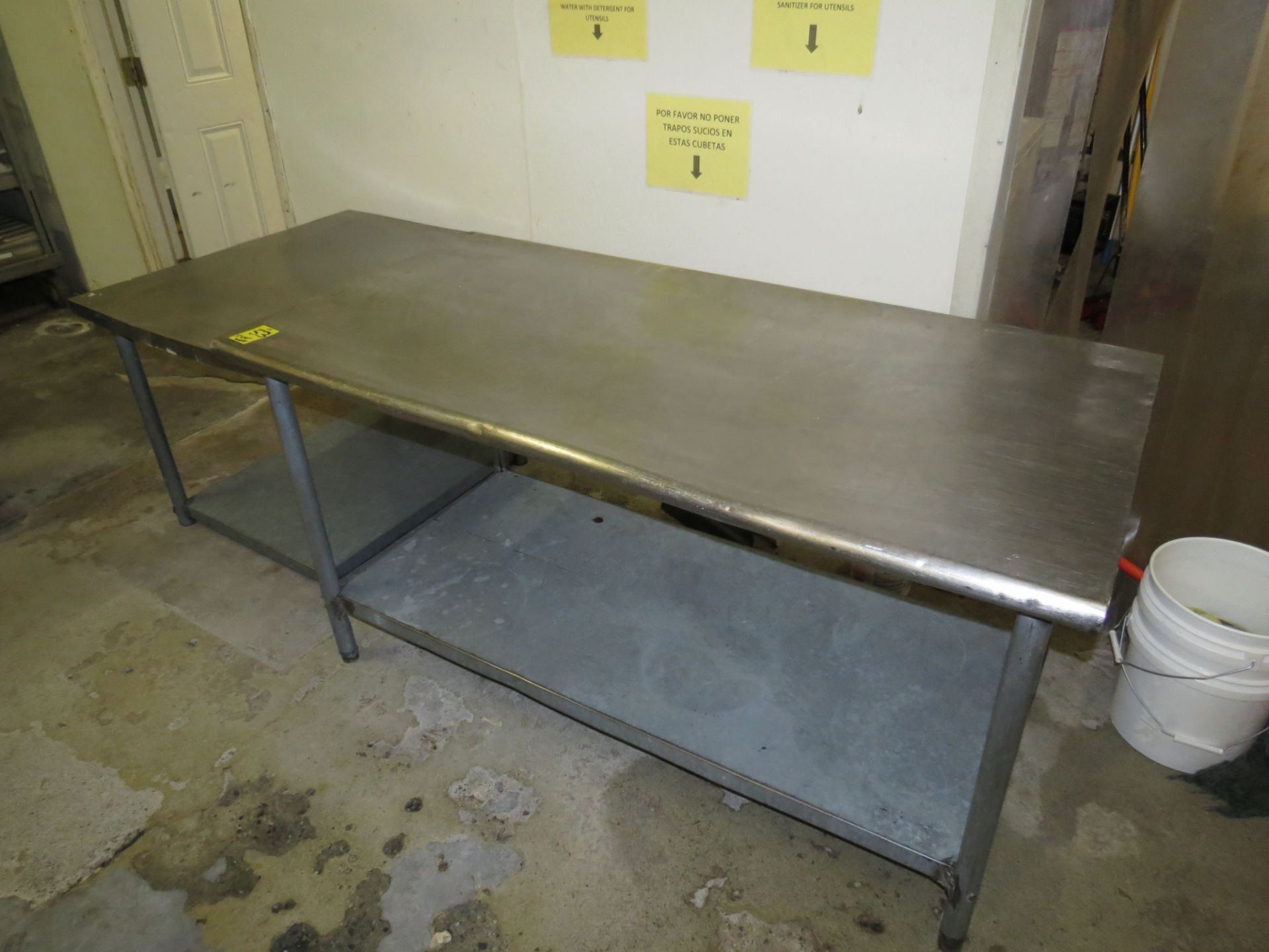 """Lot 53 - LOT STAINLESS STEEL TABLES 5' X 30"""" & 3' X 30"""""""