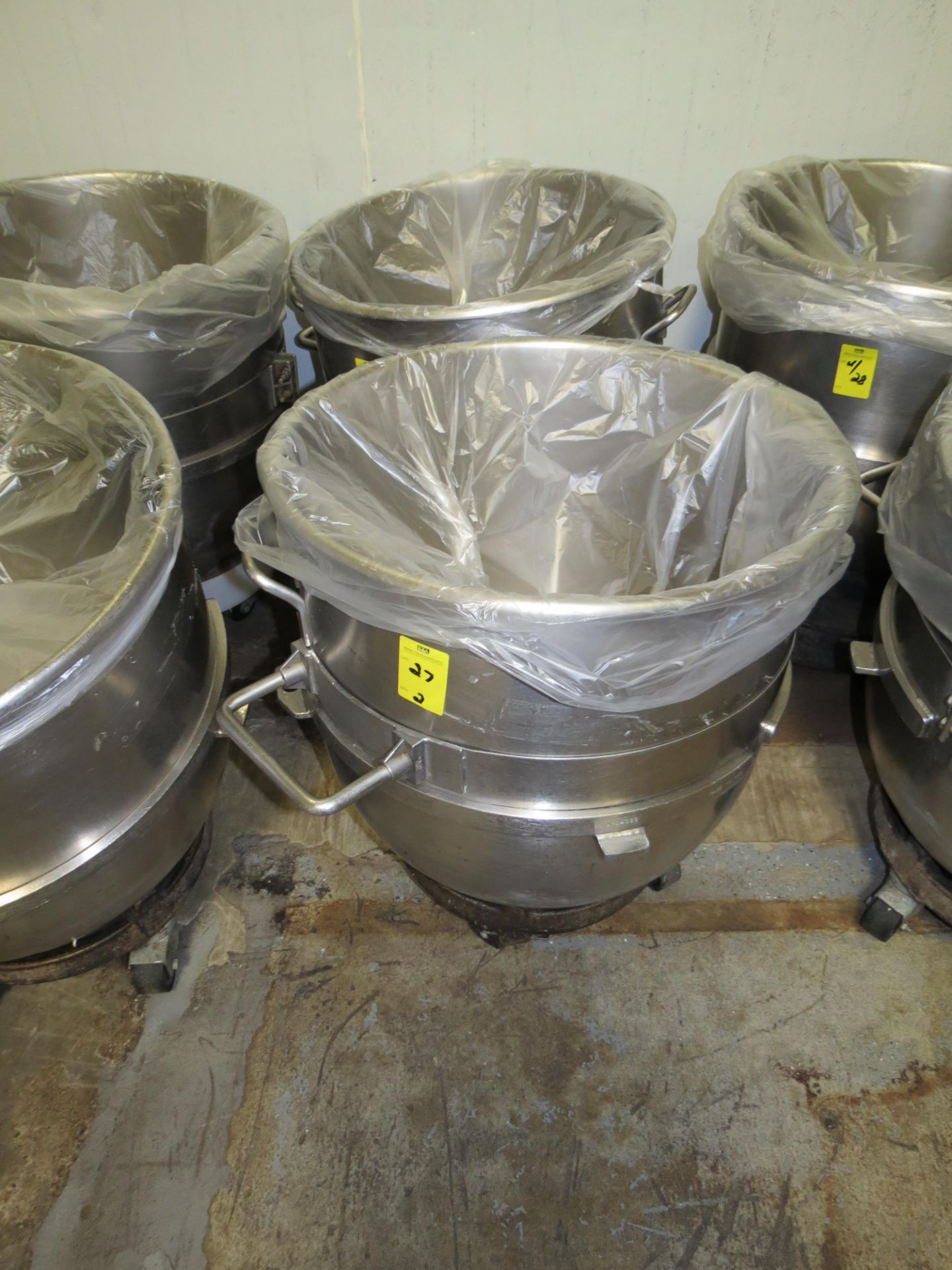 Lot 27 - STAINLESS STEEL HOBART MIXING BOWLS 40 GALLLON