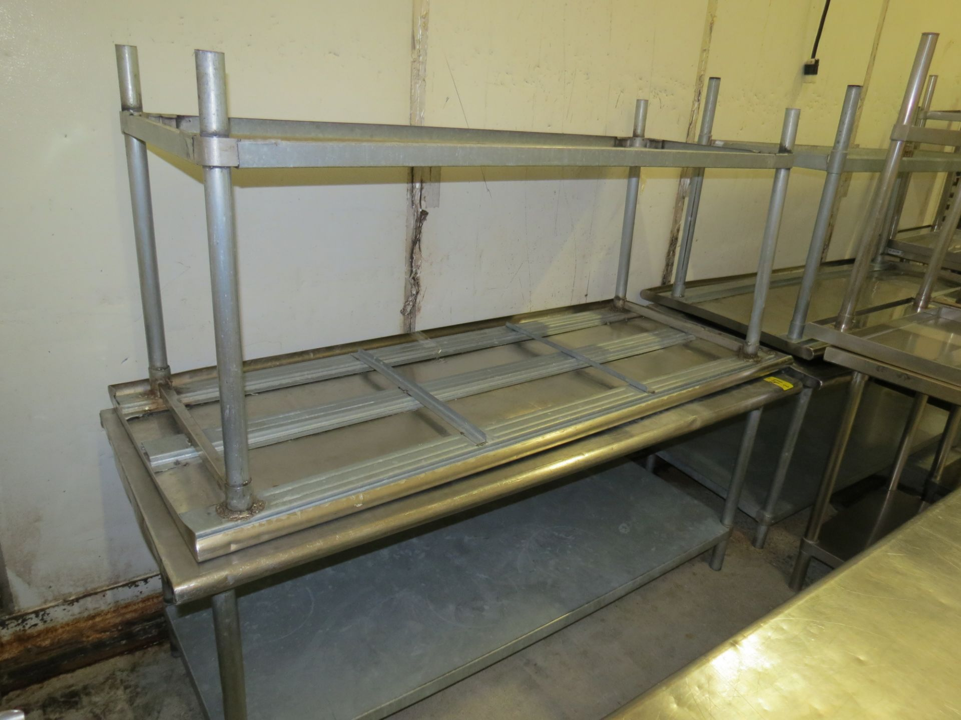 Lot 47 - STAINLESS STEEL TABLE 6 ' X 30""