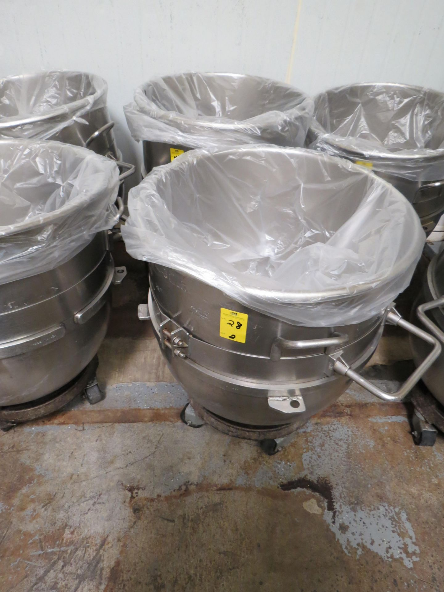 Lot 28 - STAINLESS STEEL HOBART MIXING BOWLS 40 GALLLON