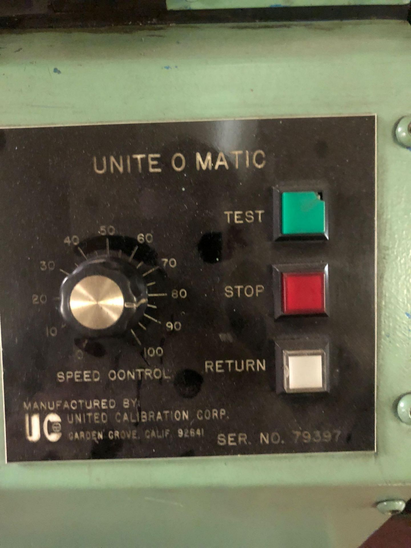 Lotto 336 - United Unite-O-Matic LCH Speedy Tester
