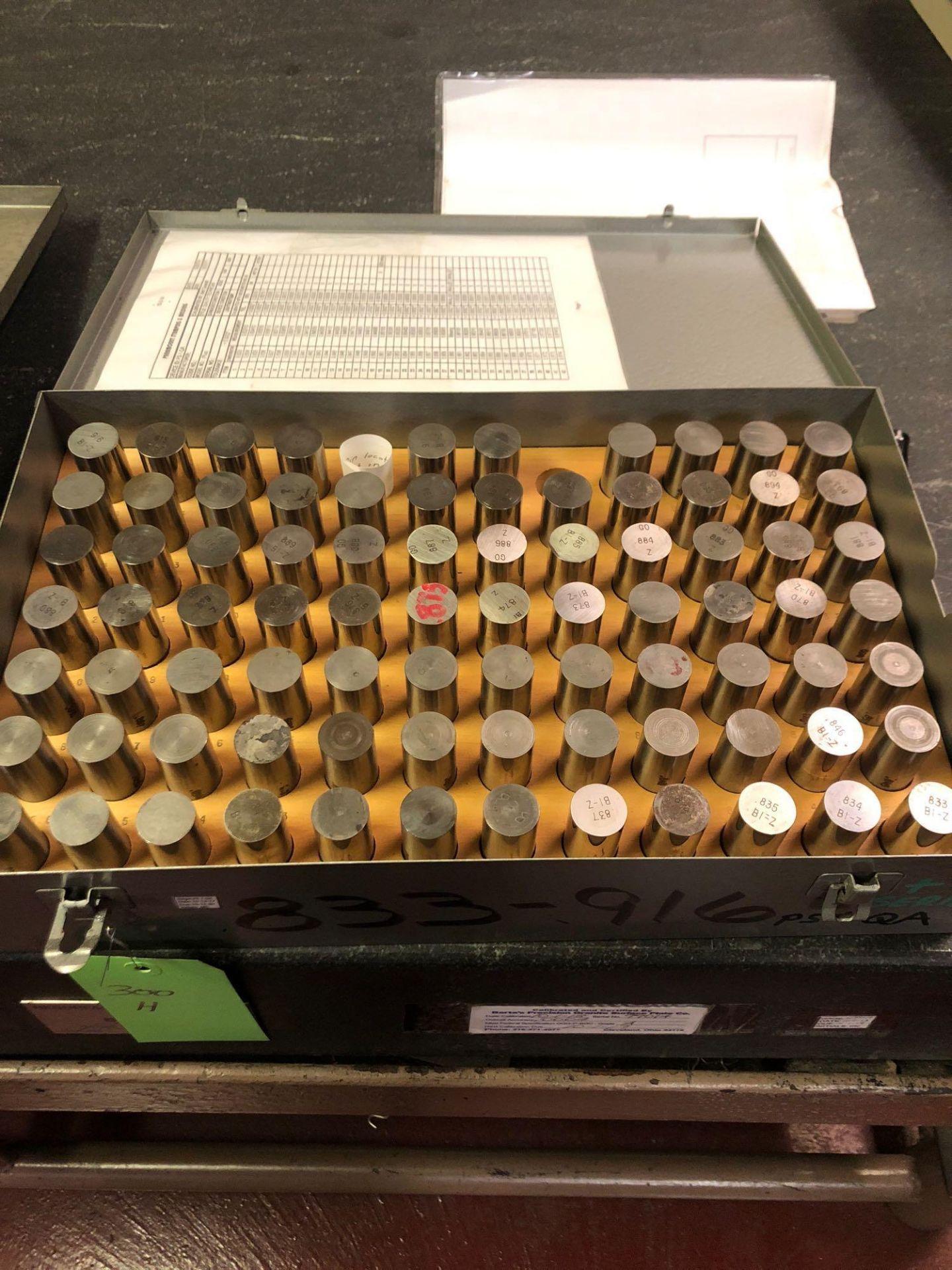 Lotto 300h - Pin Gage Set .833-.916