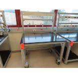 Lot of (9) rolling lab tables, located in B wing, 4th floor, room 449L