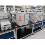Lot 1784C - Lot of (10) rolling lab tables, no drawers, located in B wing, 4th floor, room 447A