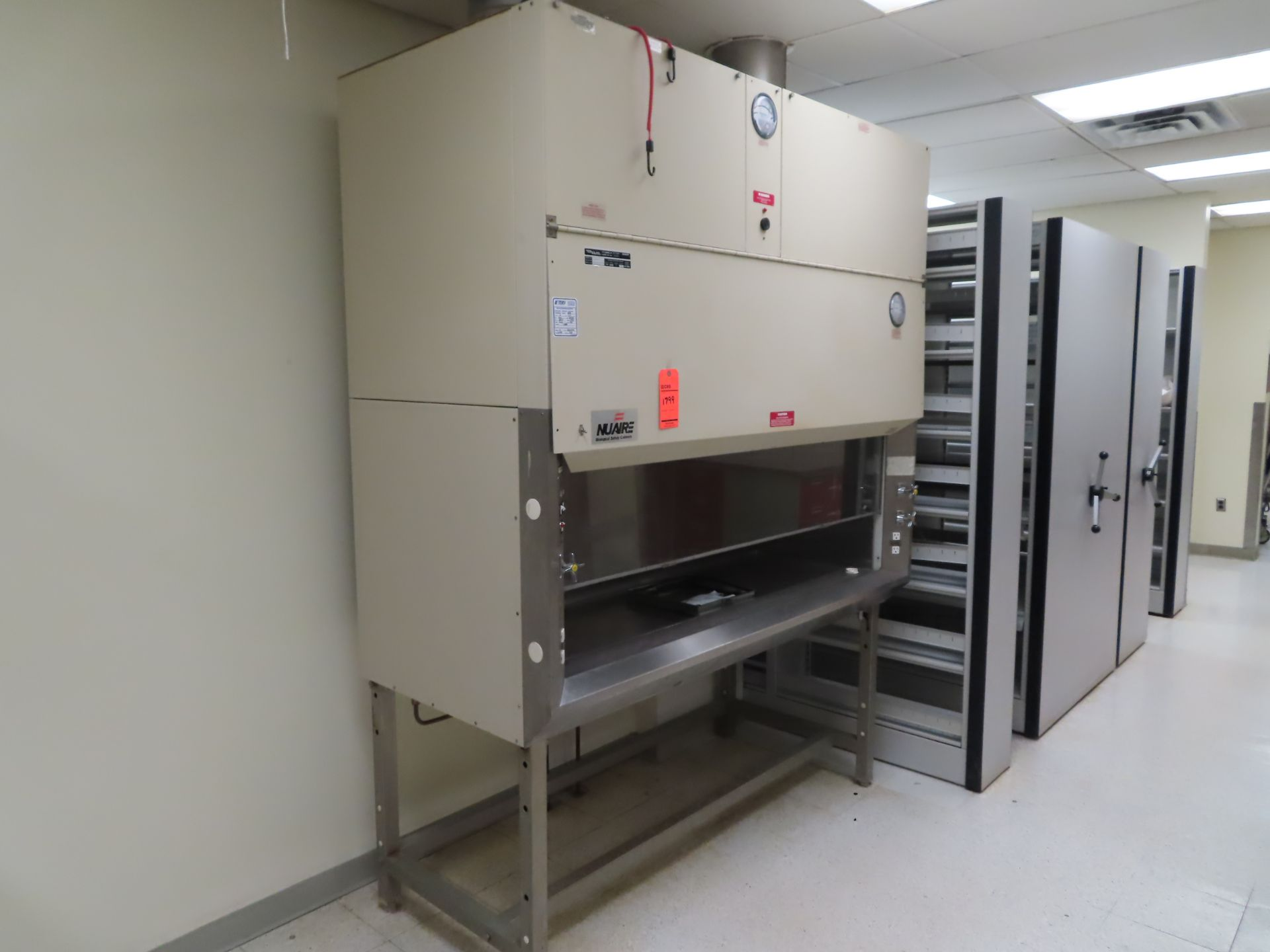 """Lot 1799 - NuAire NU-415-600 fume hood, s/n 11189 FM, 5'3"""" X 23"""", located in B wing, 4th floor, room 444A"""