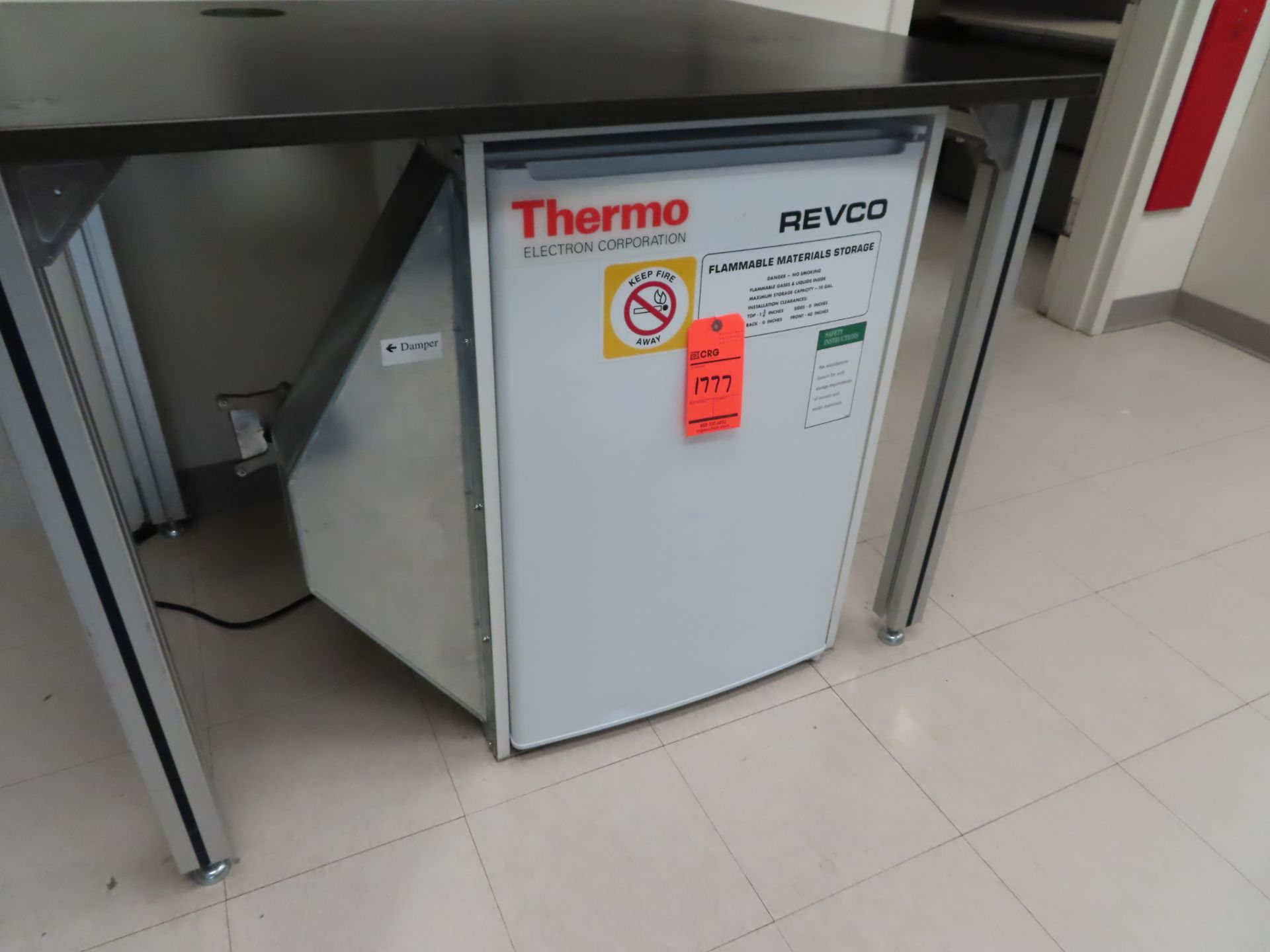 Lot 1777 - Revco flammable materials storage refrigerator, located in B wing, 4th floor, room 447A