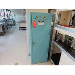 Justrite acid storage cabinet, 22 gal. cap., located in B wing, 4th floor, room 449L