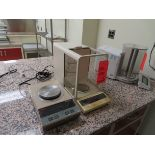 Lot of (2) Ohaus items including: (1) AP210 balance, s/n 1118342909, (1) Galaxy 400 scale, located