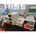 Lot including: (2) Shimadzu SPD-20A UV-VIS detectors, (3) Shimadzu DGU-14A degassers, (3) Shimadzu
